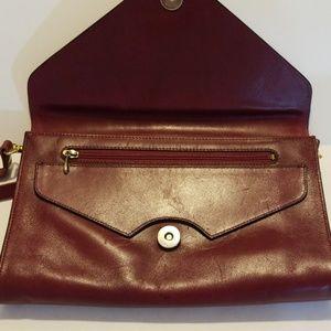 Bracci Bags - Bracci Red Leather Cross Body Purse